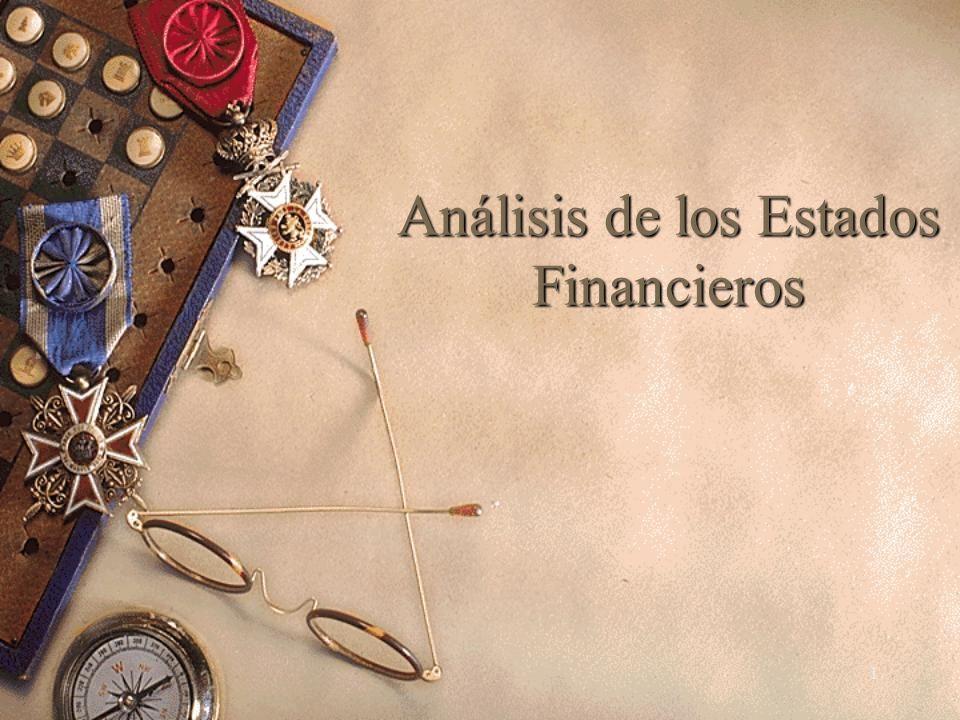 1 Análisis de los Estados Financieros