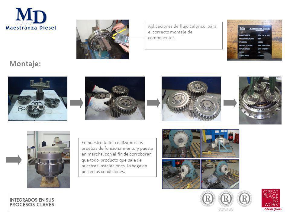 Montaje: En nuestro taller realizamos las pruebas de funcionamiento y puesta en marcha, con el fin de corroborar que todo producto que sale de nuestra