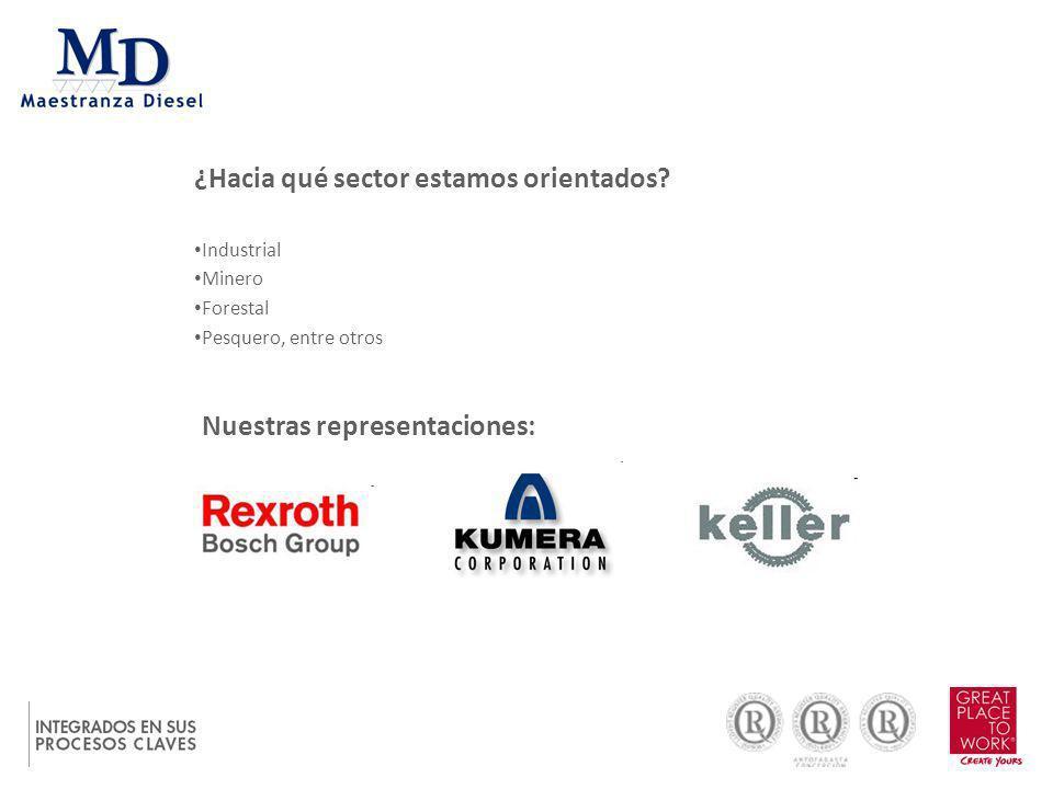 ¿Hacia qué sector estamos orientados? Industrial Minero Forestal Pesquero, entre otros Nuestras representaciones: