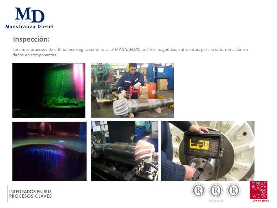 Inspección: Nuestros técnicos realizan una inspección exhaustiva a cada componente, siguiendo procedimientos de ajuste y armado.