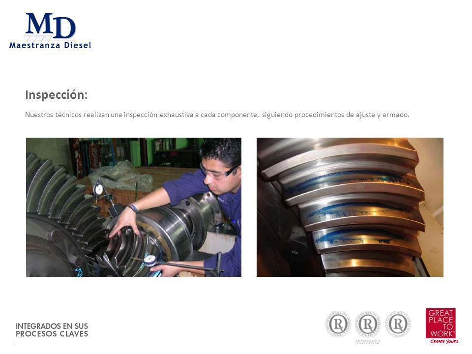 Contamos con protocolos de ajuste dictados en forma rigurosa; a través de catálogos por el fabricante.