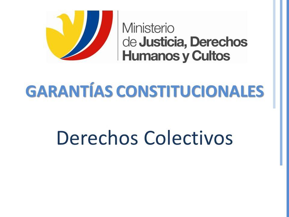 GARANTÍAS CONSTITUCIONALES Derechos Colectivos