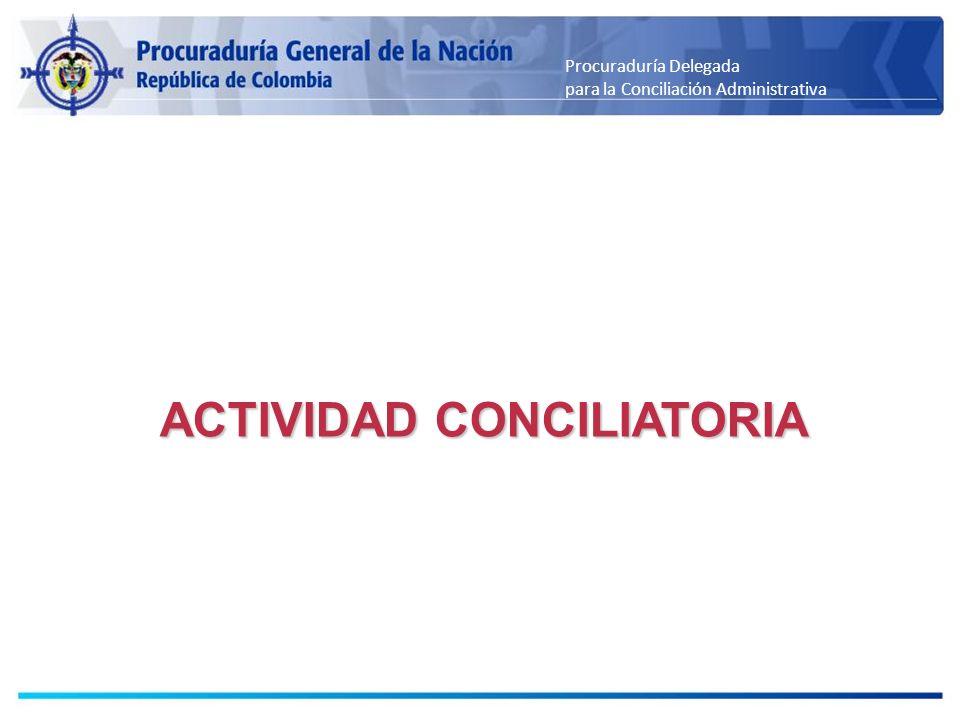 Procuraduría Delegada para la Conciliación Administrativa ACTIVIDAD CONCILIATORIA