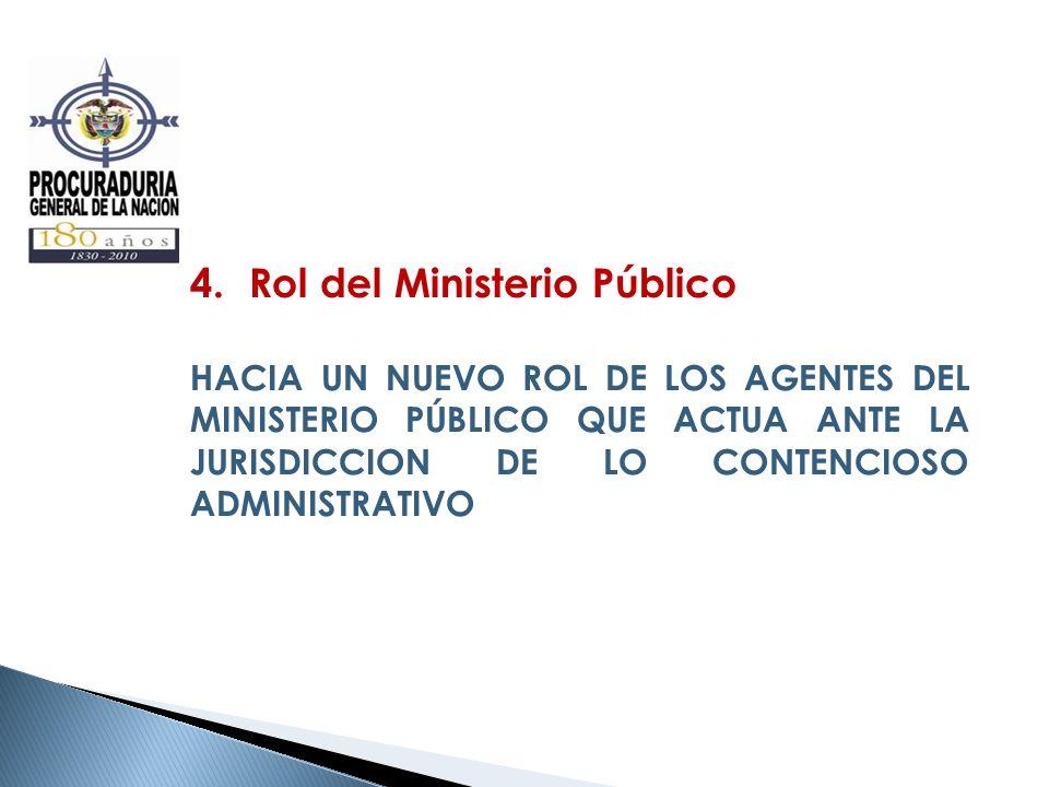 4.Rol del Ministerio Público HACIA UN NUEVO ROL DE LOS AGENTES DEL MINISTERIO PÚBLICO QUE ACTUA ANTE LA JURISDICCION DE LO CONTENCIOSO ADMINISTRATIVO