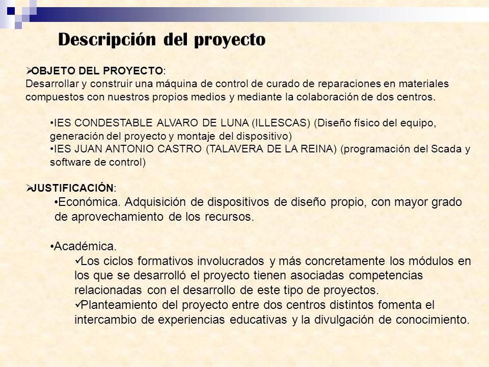 Descripción del proyecto OBJETO DEL PROYECTO: Desarrollar y construir una máquina de control de curado de reparaciones en materiales compuestos con nu