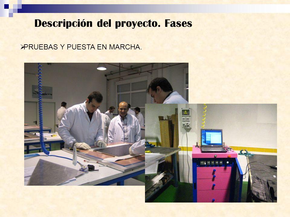 Descripción del proyecto. Fases PRUEBAS Y PUESTA EN MARCHA.