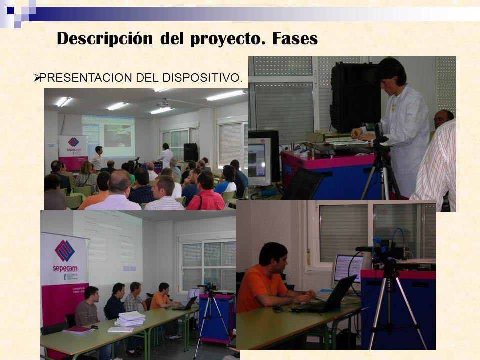 Descripción del proyecto. Fases PRESENTACION DEL DISPOSITIVO.