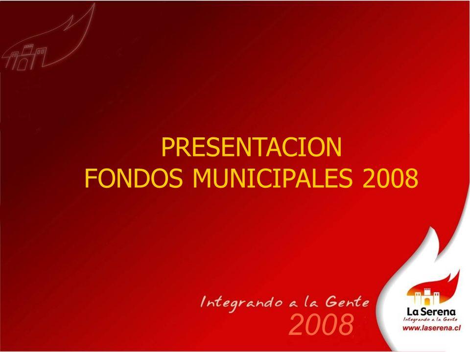 PRESENTACION FONDOS MUNICIPALES 2008