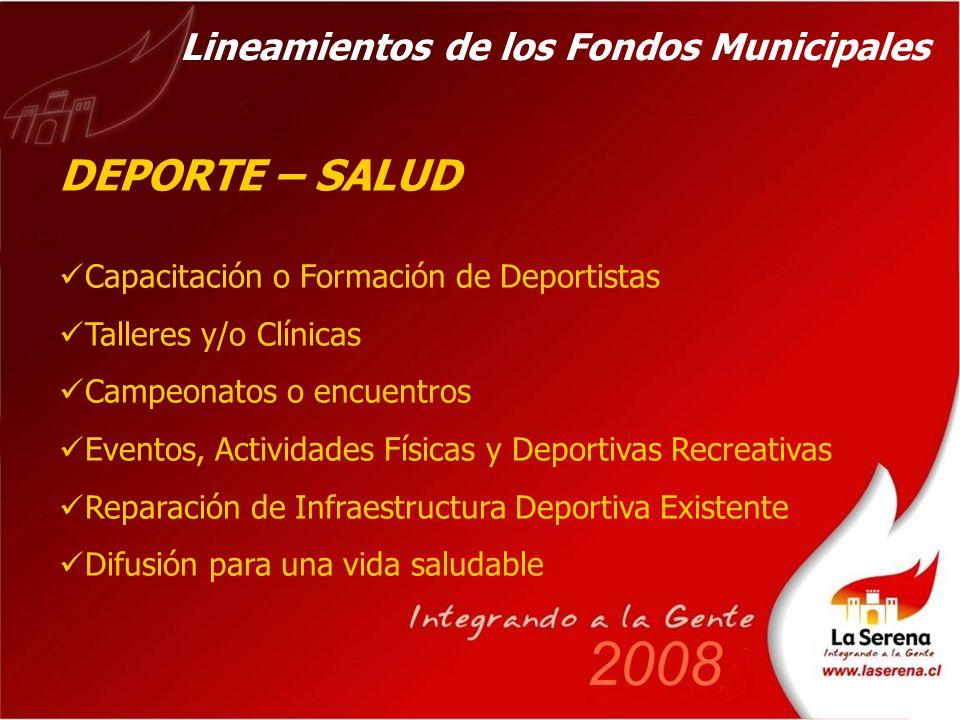 BASES DE POSTULACION A LOS FONDOS Disponibles a en la pagina del Municipio, www.laserena.cl A modo de consultas: - En las Delegaciones Municipales - En las Oficinas de los Departamentos de la Dirección de Desarrollo Comunitario