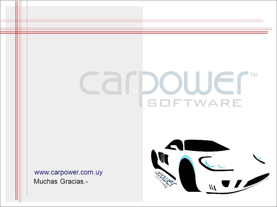 Muchas Gracias.- www.carpower.com.uy
