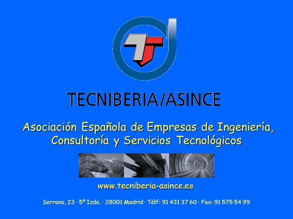 Asociación Española de Empresas de Ingeniería, Consultoría y Servicios Tecnológicos www.tecniberia-asince.es Serrano, 23 · 5º Izda.