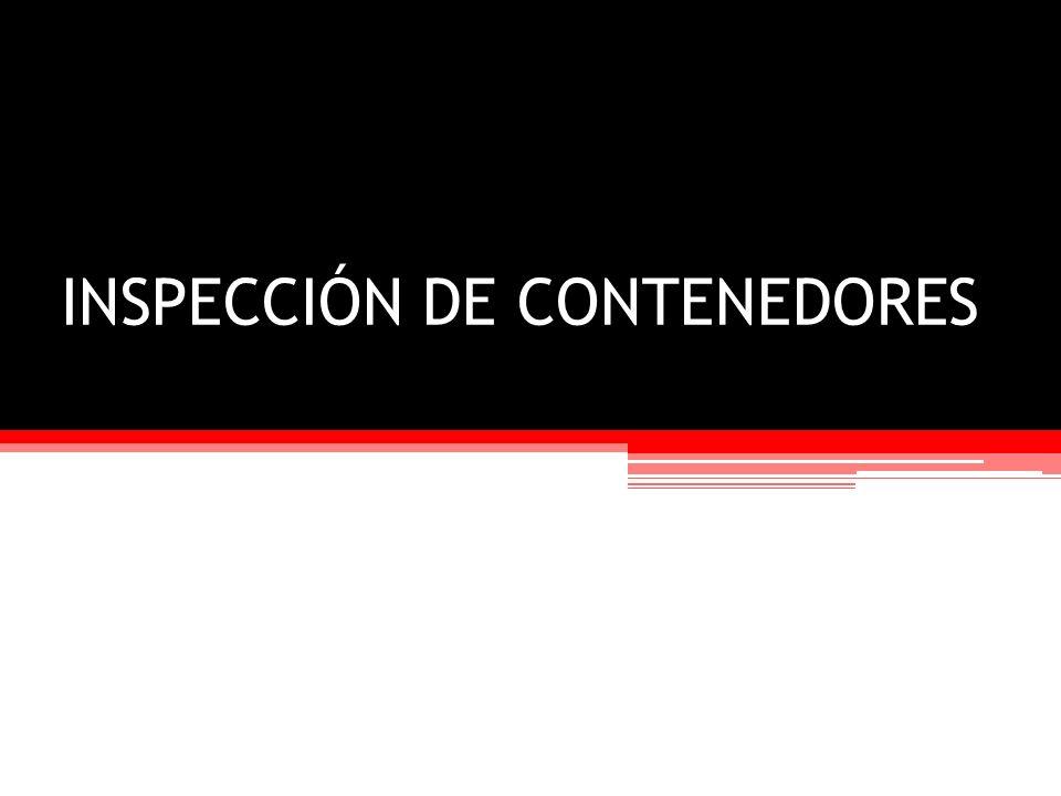 INSPECCIÓN DE CONTENEDORES