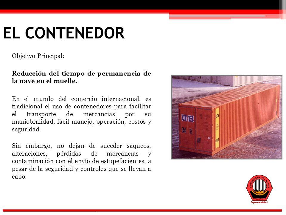EL CONTENEDOR Objetivo Principal: Reducción del tiempo de permanencia de la nave en el muelle.