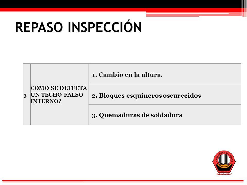 REPASO INSPECCIÓN 5 COMO SE DETECTA UN TECHO FALSO INTERNO.