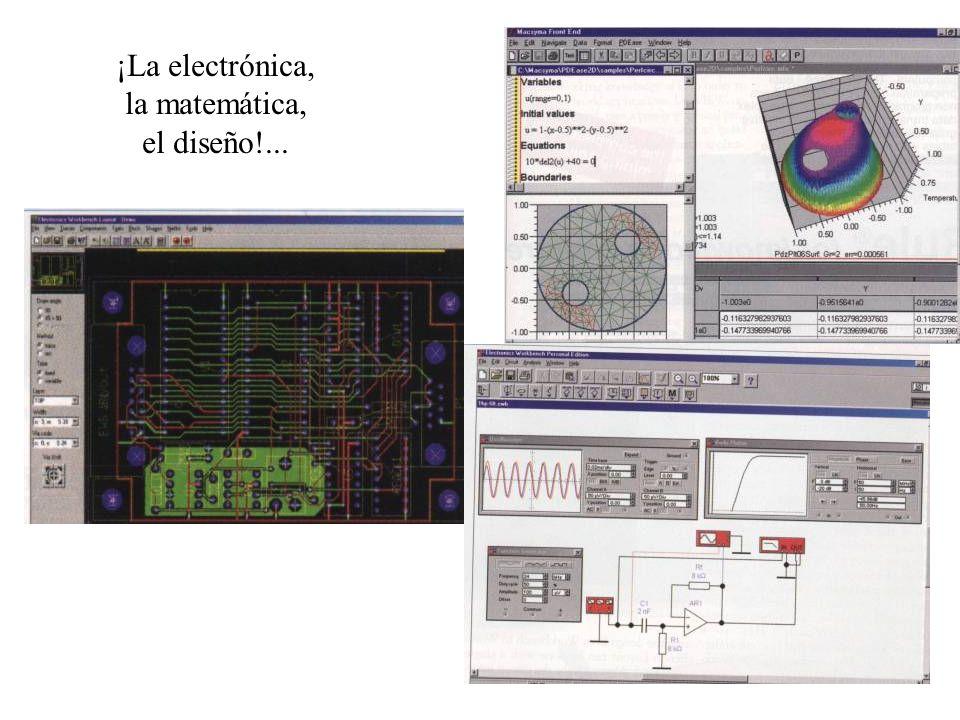 ¡La electrónica, la matemática, el diseño!...