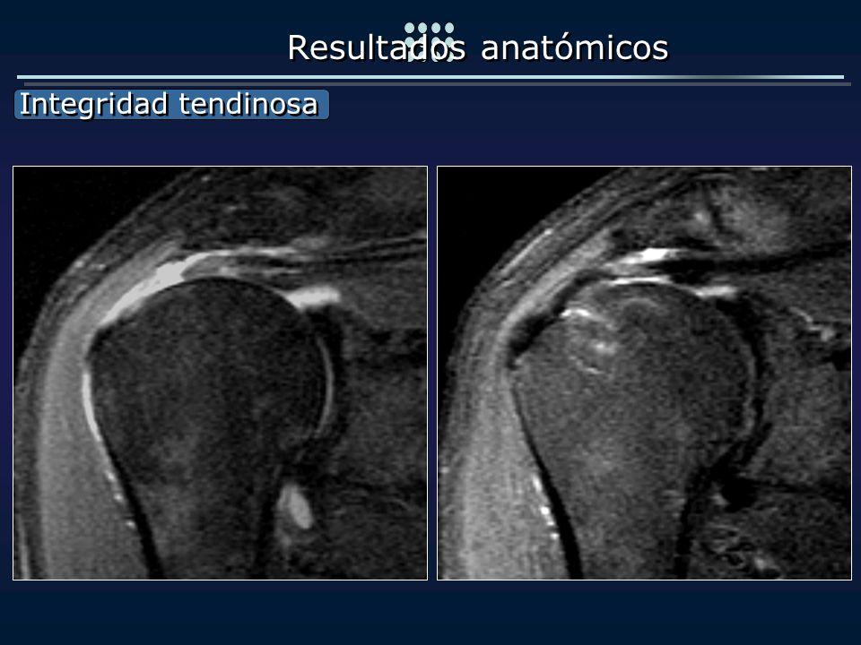 Integridad tendinosa Integridad tendinosa Resultados anatómicos