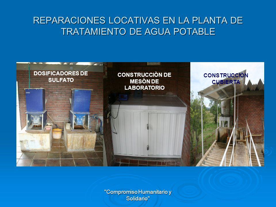 Compromiso Humanitario y Solidario SANEAMIENTO BASICO Reparación y mantenimiento de un tramo de alcantarillado entre los pozos 6 y 7 emisario final alcantarillado urbano del municipio de Alvarado Tolima.