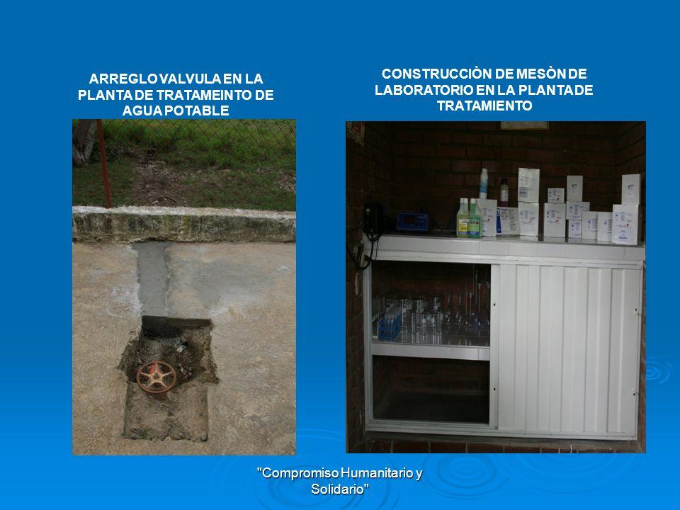 Compromiso Humanitario y Solidario LABORATORIO PLANTA DE TRATAMIENTO