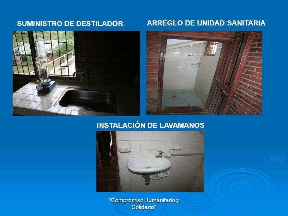 Compromiso Humanitario y Solidario INSTALACIONES PLANTA DE TRATAMIENTO DE AGUA POTABLE INSTALACIONES PLANTA DE TRATAMIENTO DE AGUA POTABLE