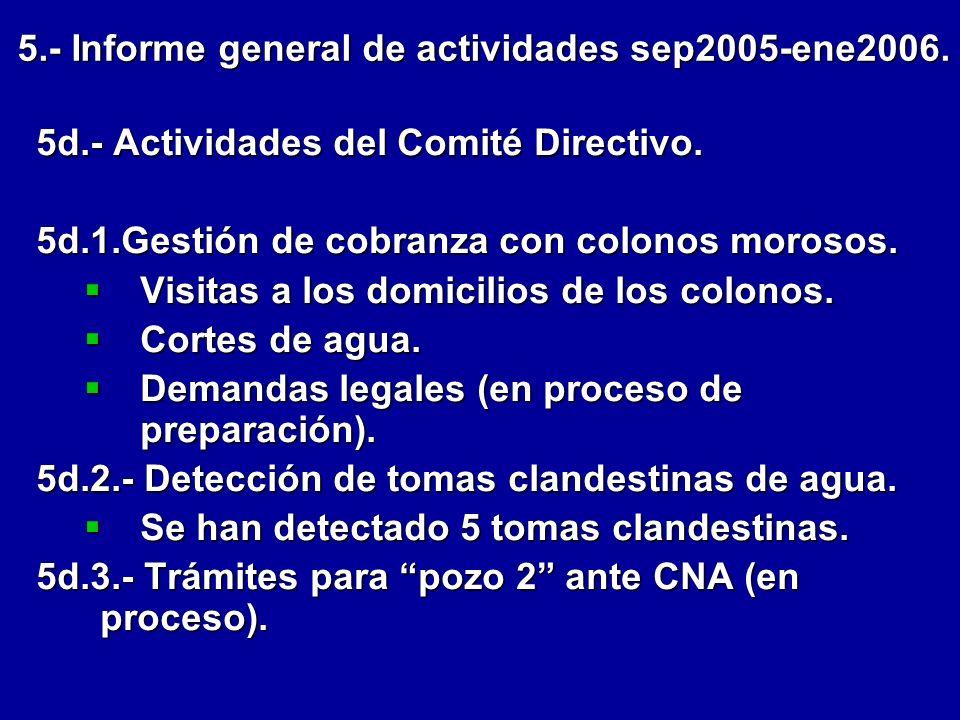 10.-Instalación de alarma central y alarmas en los domicilios de los Colonos.