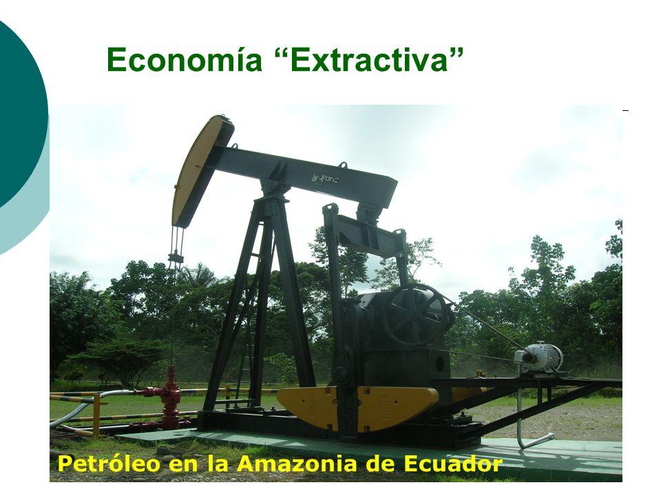 Economía Extractiva Petróleo en la Amazonia de Ecuador