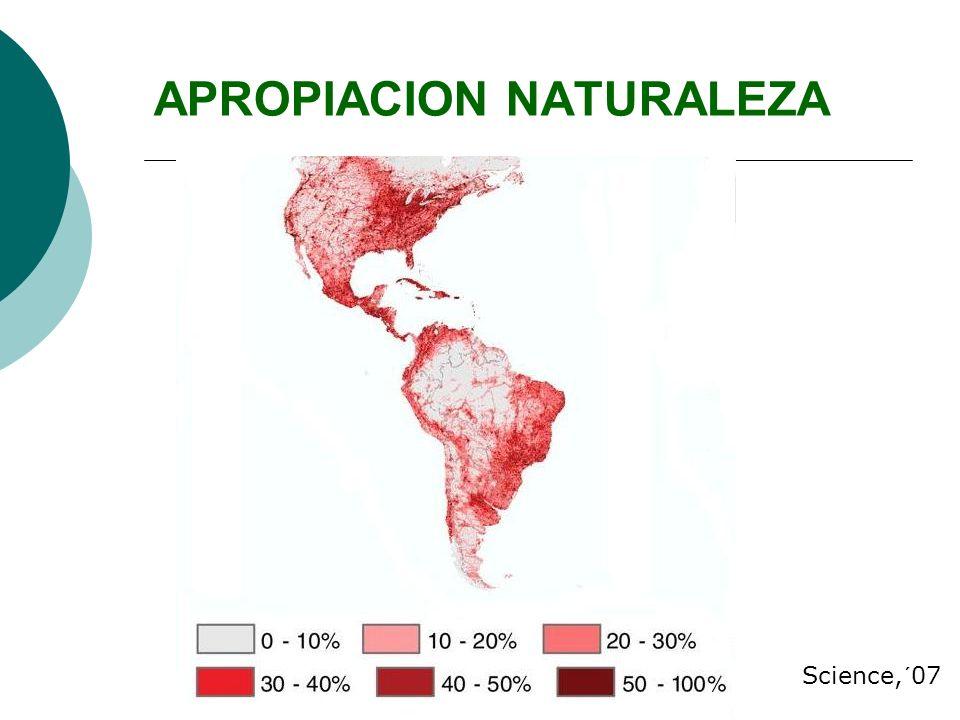APROPIACION NATURALEZA Science,´07