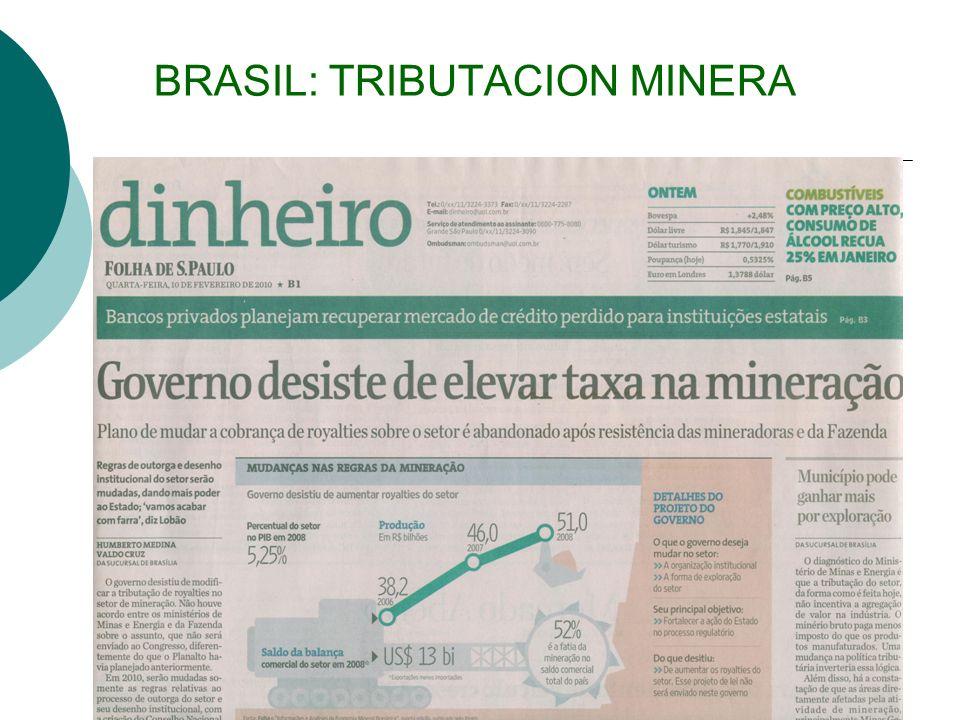 BRASIL: TRIBUTACION MINERA