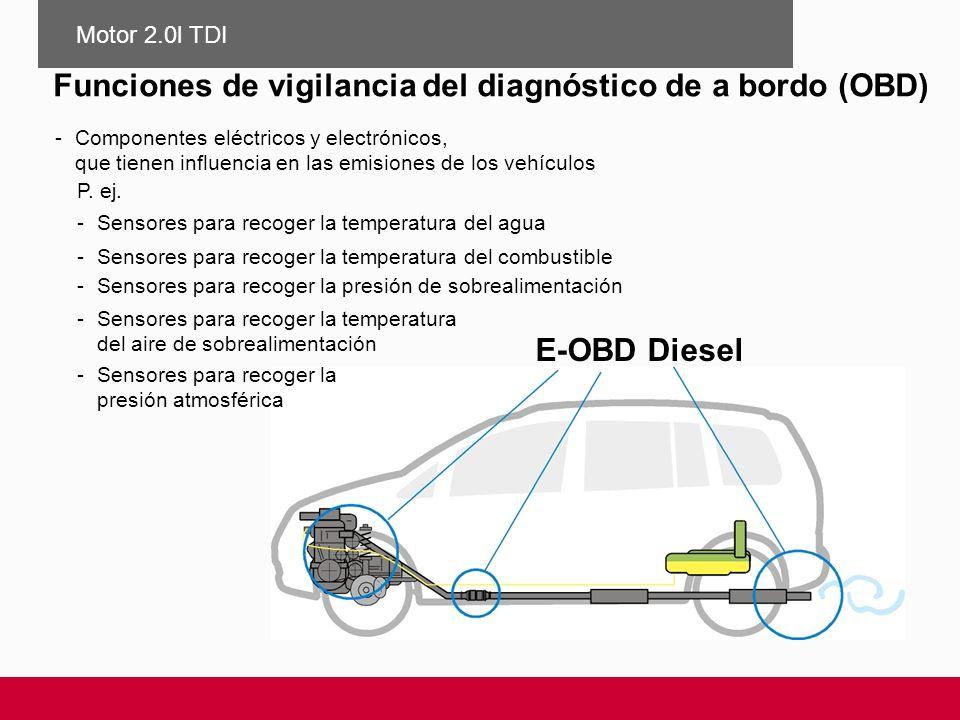 E-OBD Diesel Funciones de vigilancia del diagnóstico de a bordo (OBD) -Componentes eléctricos y electrónicos, que tienen influencia en las emisiones d