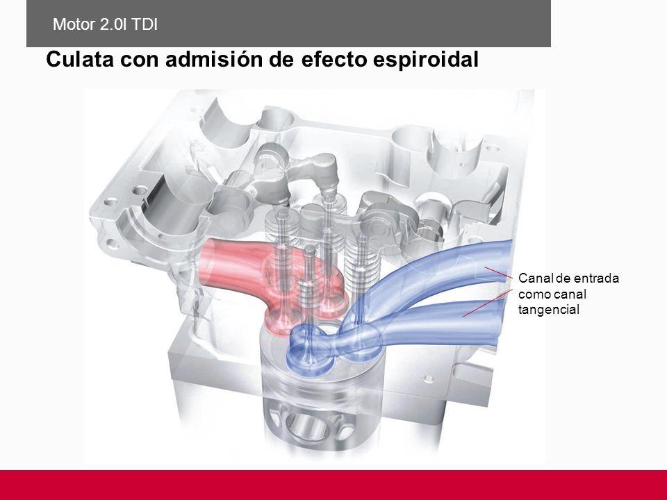 Culata con admisión de efecto espiroidal Canal de entrada como canal tangencial Motor 2.0l TDI