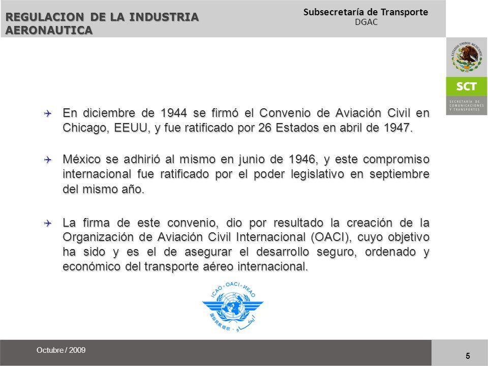 Subsecretaría de Transporte DGAC 26 Octubre / 2009 Acuerdo Ejecutivo Procedimiento de Implementación para Aeronavegabilidad IPA Firmado entre el DOT y la SCT el 18-sep-07, y ratificado por el Senado de la República el 8-oct-09 Firmado entre la FAA y la DGAC el 21-jul-09 PROCESO DEL ACUERDO BILATERAL BASA-IPA ¿ Cuál es el estatus del BASA mexicano.