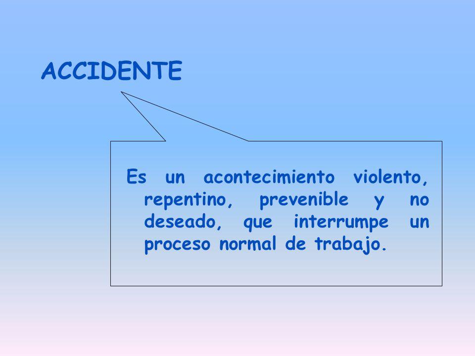 CLASIFICACION DE LOS ACCIDENTES