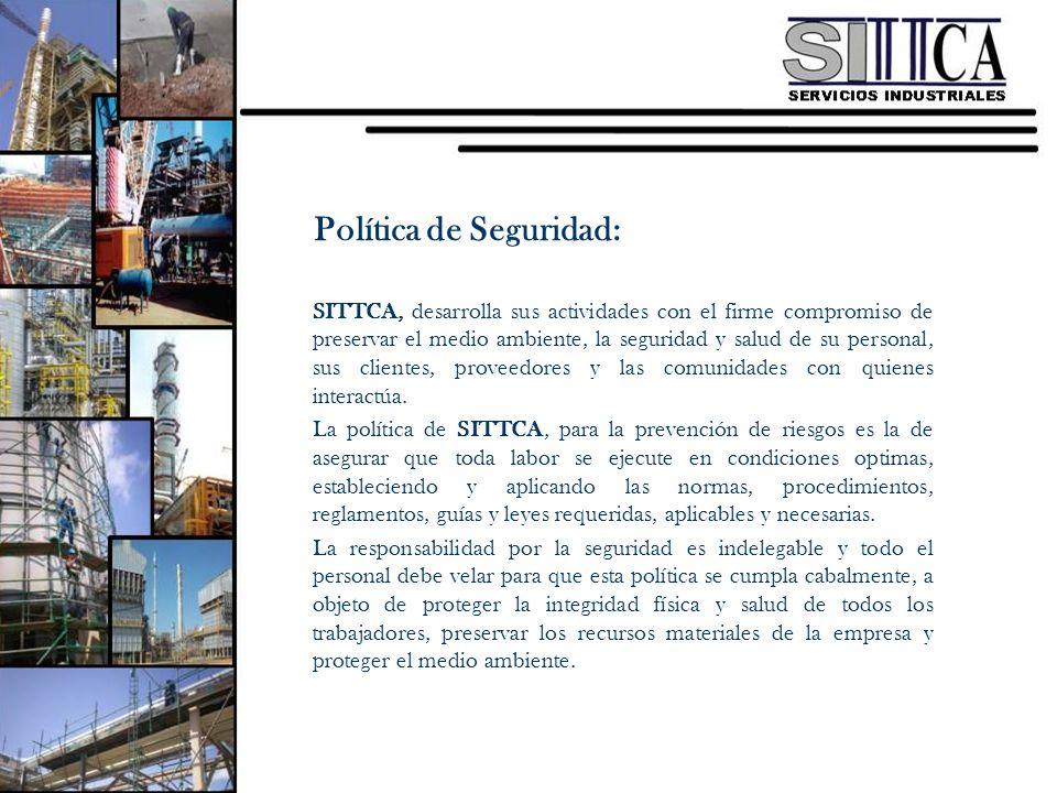 SITTCA, desarrolla sus actividades con el firme compromiso de preservar el medio ambiente, la seguridad y salud de su personal, sus clientes, proveedo