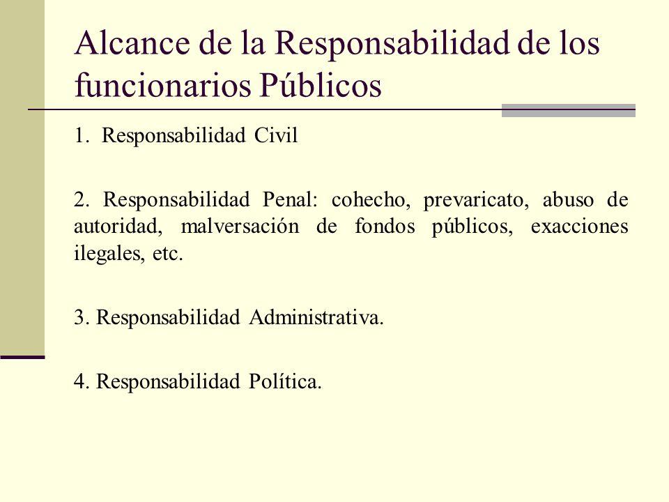 Responsabilidad Administrativa Ley de la Función Pública Art.