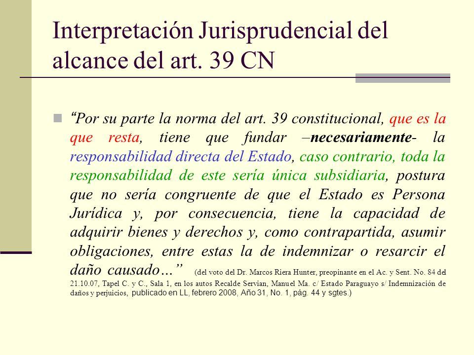 Casos de responsabilidad directa por actos regulares del Estado (doctrina paraguaya) 1.