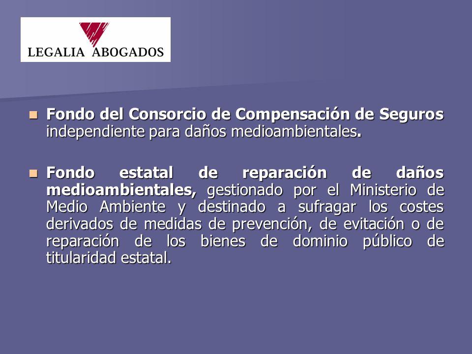 Fondo del Consorcio de Compensación de Seguros independiente para daños medioambientales.