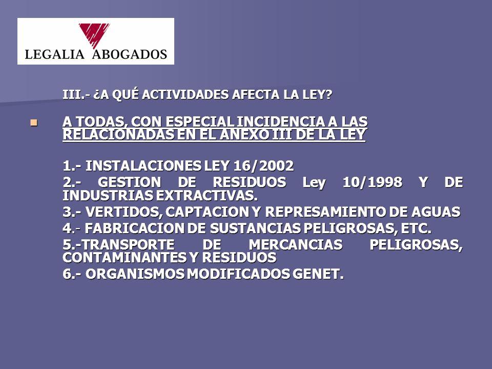 ESTÁN EXENTOS DE CONSTITUIR GARANTIA FINANCIERA (NO DE RESPONSABILIDAD): ESTÁN EXENTOS DE CONSTITUIR GARANTIA FINANCIERA (NO DE RESPONSABILIDAD): a) Operadores de actividades susceptibles de ocasionar daños cuya reparación se evalúe por cantidad inferior a 300.000 euros.