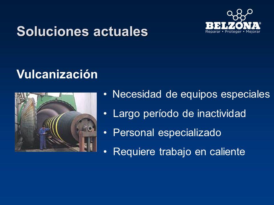 Vulcanización Necesidad de equipos especiales Largo período de inactividad Personal especializado Requiere trabajo en caliente