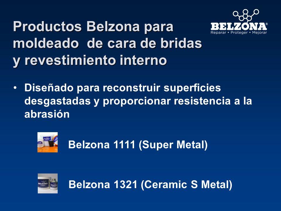 Productos Belzona para moldeado de cara de bridas y revestimiento interno Diseñado para reconstruir superficies desgastadas y proporcionar resistencia