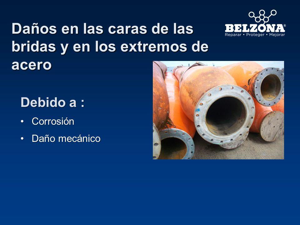 Productos Belzona para moldeado de cara de bridas y revestimiento interno Diseñado para reconstruir superficies desgastadas y proporcionar resistencia a la abrasión Belzona 1111 (Super Metal) Belzona 1321 (Ceramic S Metal)