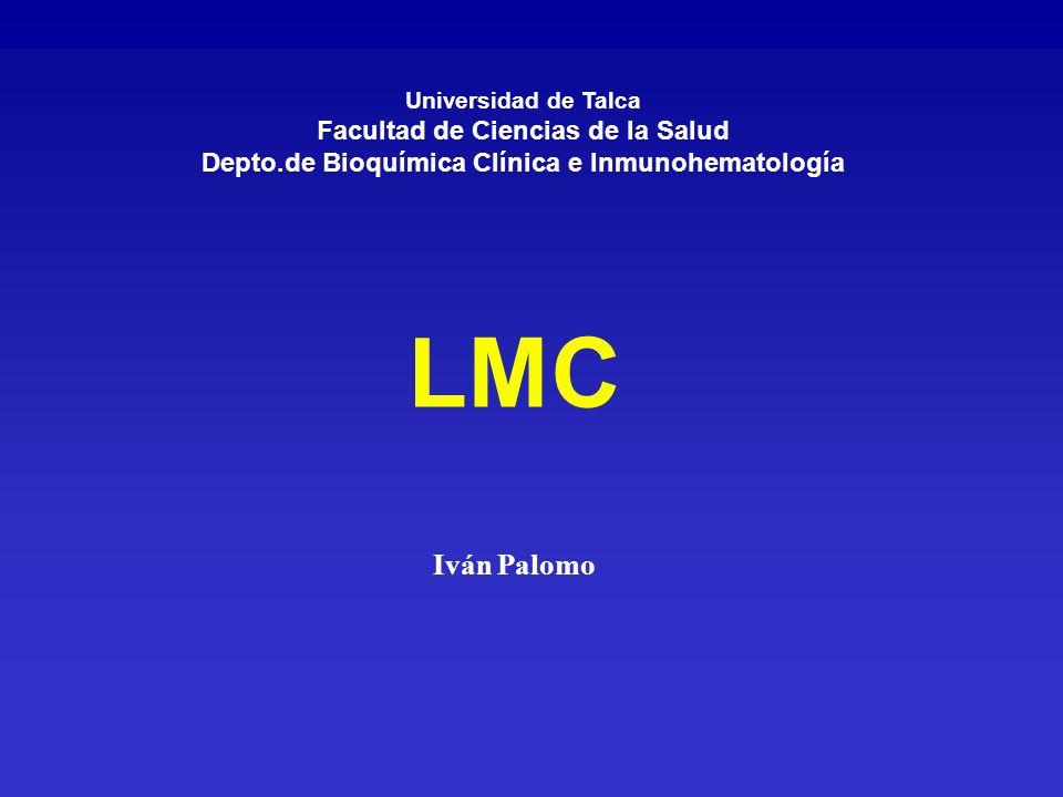 SMP Leucemia Mieloide Crónica (LMC) Mielofibrosis con metaplasia mieloide Policitemia Vera Trombocitemia esencial