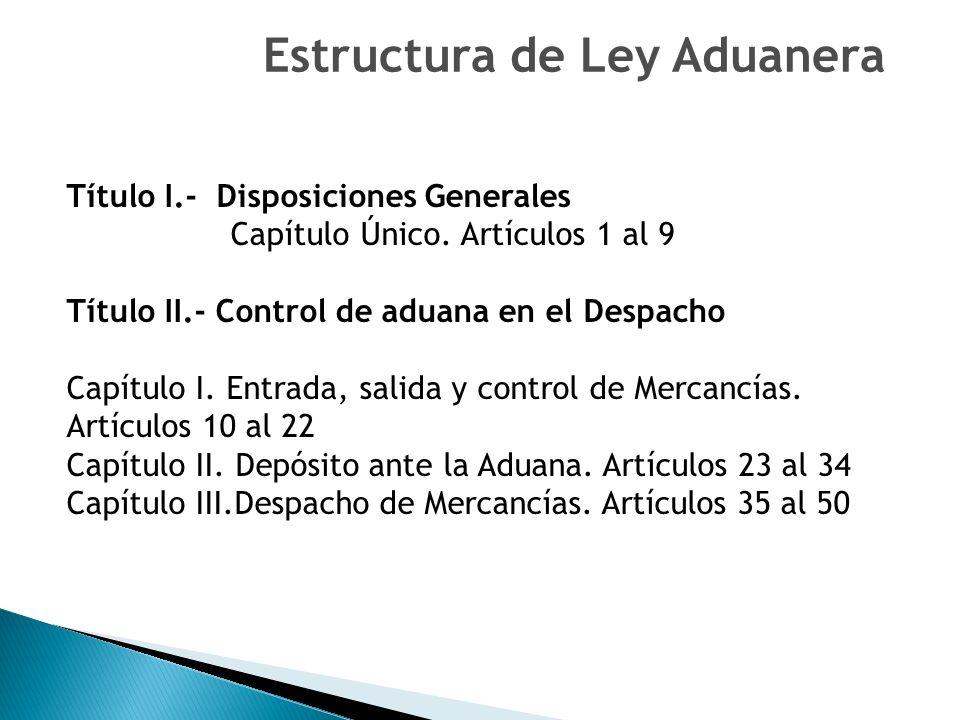 Título I.- Disposiciones Generales Capítulo Único.