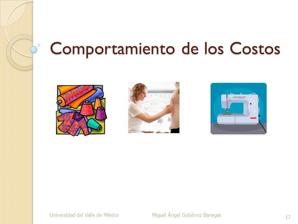 Comportamiento de los Costos Universidad del Valle de México Miguel Ángel Gutiérrez Banegas 17