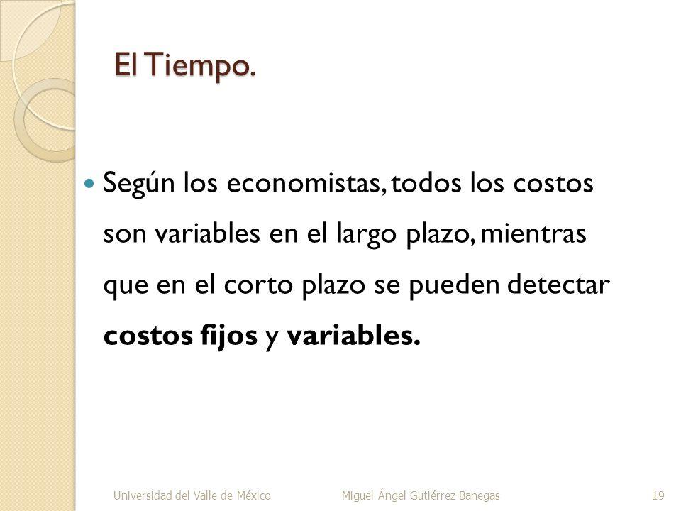El Tiempo. Según los economistas, todos los costos son variables en el largo plazo, mientras que en el corto plazo se pueden detectar costos fijos y v