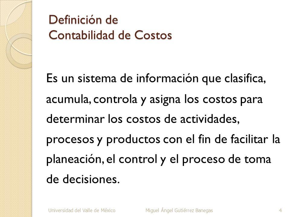 Definición de Costo.