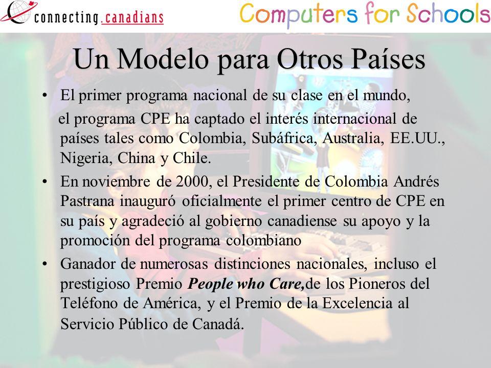 Un Modelo para Otros Países Un Modelo para Otros Países El primer programa nacional de su clase en el mundo, el programa CPE ha captado el interés int