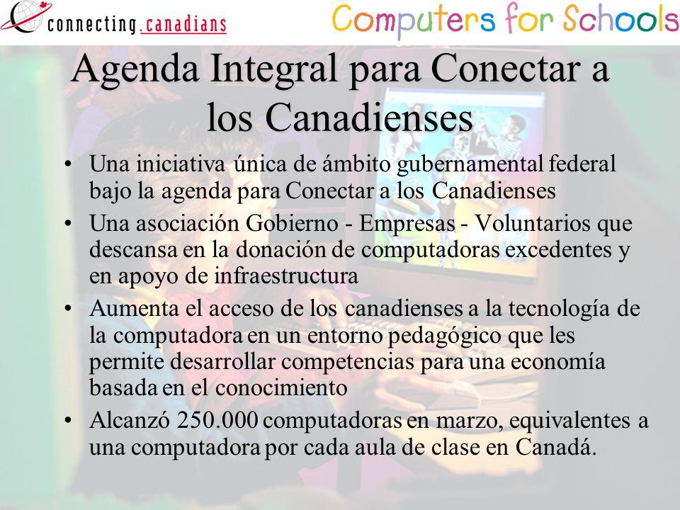 Agenda Integral para Conectar a los Canadienses Una iniciativa única de ámbito gubernamental federal bajo la agenda para Conectar a los Canadienses Un