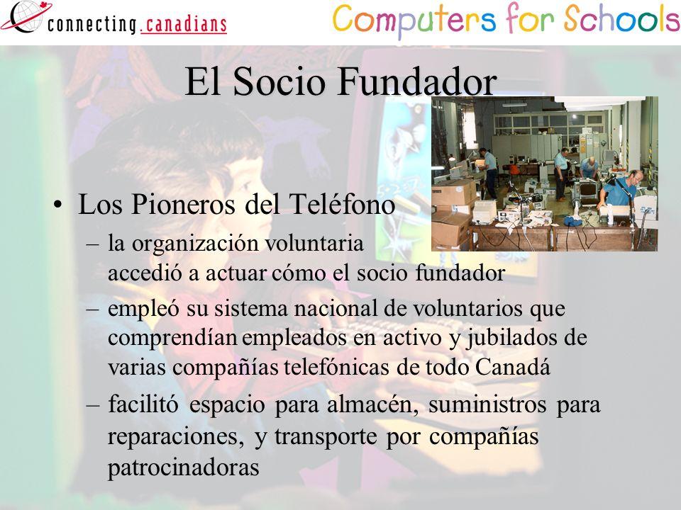 El Socio Fundador Los Pioneros del Teléfono –la organización voluntaria accedió a actuar cómo el socio fundador –empleó su sistema nacional de volunta