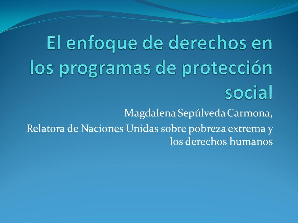 Magdalena Sepúlveda Carmona, Relatora de Naciones Unidas sobre pobreza extrema y los derechos humanos