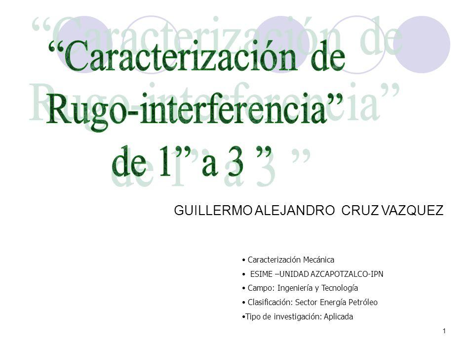 1 Caracterización Mecánica ESIME –UNIDAD AZCAPOTZALCO-IPN Campo: Ingeniería y Tecnología Clasificación: Sector Energía Petróleo Tipo de investigación: