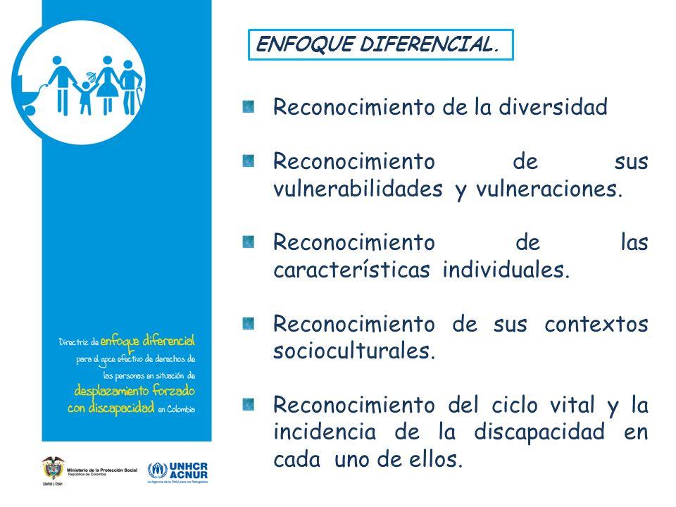Reconocimiento de la diversidad Reconocimiento de sus vulnerabilidades y vulneraciones.